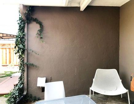 Bare wall before Vertical Garden