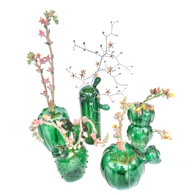 Cactus-Vases-With-Flowers