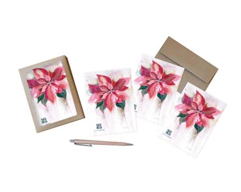 Poinsettia-Notecard-Set