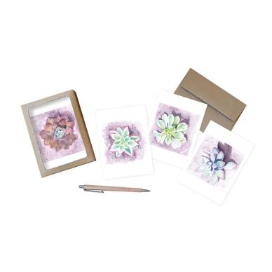 Succulent Notecard Mock-up
